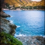 The town of Bonassola sea and beach - (Liguria Italy Włochy) 06-t75_4263